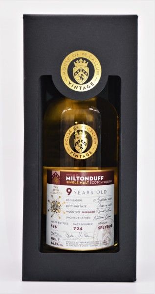 Miltonduff 2009/2019 House of McCallum Single Malt Whisky 46,5% vol 0,7L