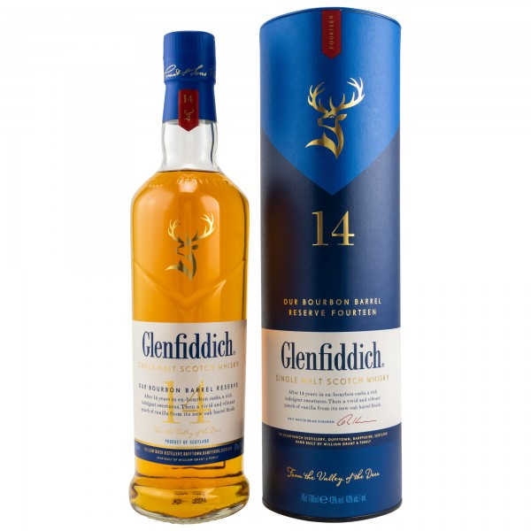 Glenfiddich 14 Jahre Bourbon Barrel Reserve Single Malt Scotch Whisky 43% 0,7L