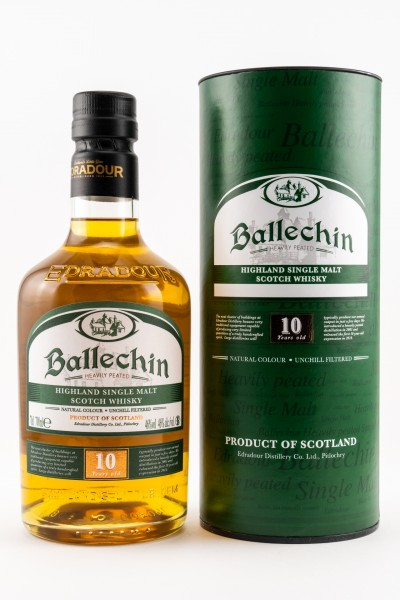 Ballechin 10 Jahre heavily peateds Single Malt Scotch Whisky 46% 0,7L