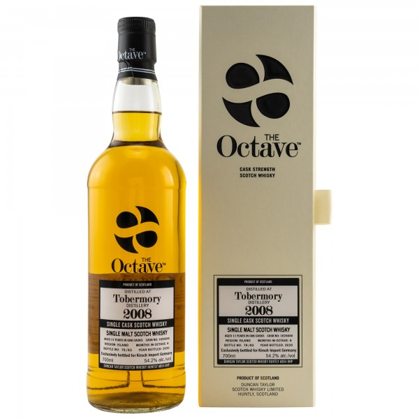 Tobermory 2008/2020 The Octave Single Cask Scotch Whisky 54,2% vol 0,7L