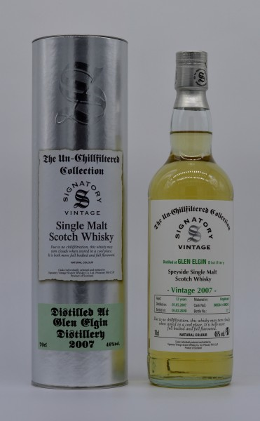 Glen Elgin 2007/2020 Signatory Vintage Single Malt Whisky 46%vol 0,7L
