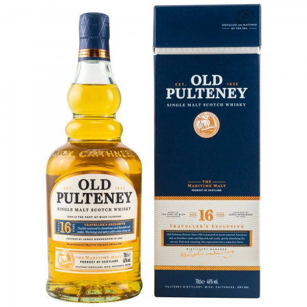 Old Pulteney 16 Jahre Single Malt Scotch Whisky 46% vol 0,7 L