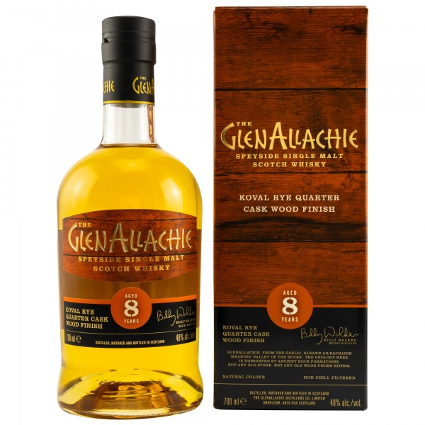 Glenallachie 8 Jahre - Speyside Single Malt Scotch Whisky - 48% vol - 0,7 L
