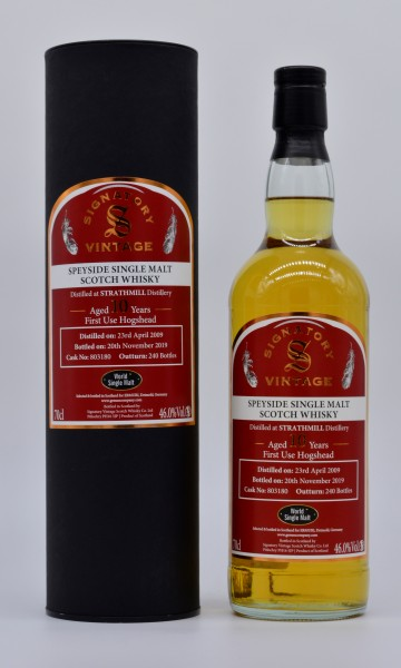 Strathmill 2009/2019 Signatory Vintage Single Malt Whisky 46%vol 0,7L