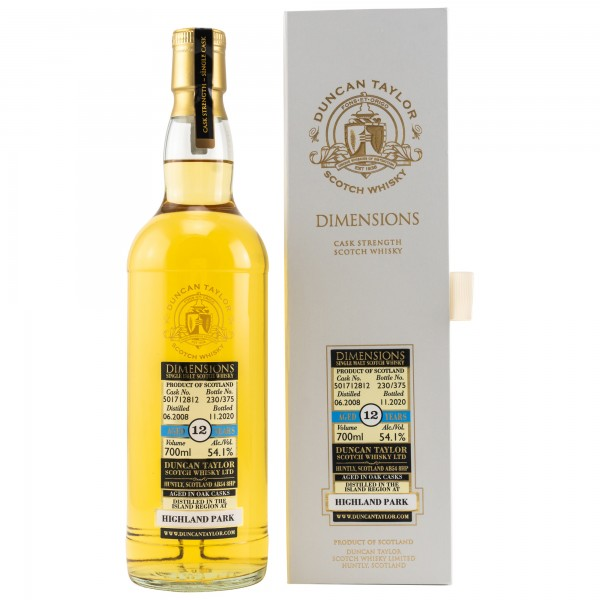 Highland Park 2008/2020 Dimensions Duncan Taylor Single Malt Whisky 54,1% 0,7L