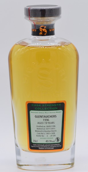 Glentauchers 19 Jahre 1996/2015 Signatory Vintage Single Malt Scotch Whisky 49,9% vol 0,7 L