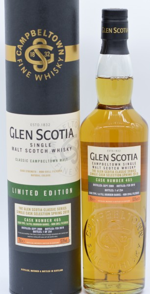 Glen Scotia 2008/2019 Single Malt Scotch Whisky 53% vol 0,7 L