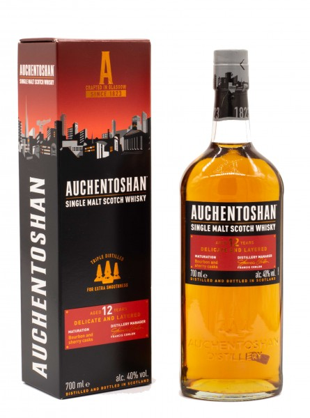 Auchentoshan 12 Jahre Double Cask Single Malt Scotch Whisky 40% vol 0,7 L