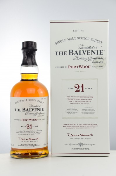 Balvenie 21 Jahre Port Wood Single Malt Scotch Whisky 40% vol 0,7 L